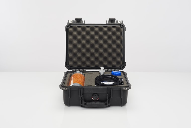 Cambustion particle size check kit in hard case