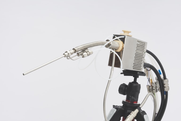 Cambustion CLD sample head on tripod