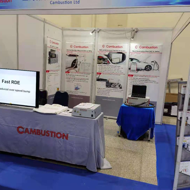 Cambustion booth at 2nd World Internal Combustion Engine Congress