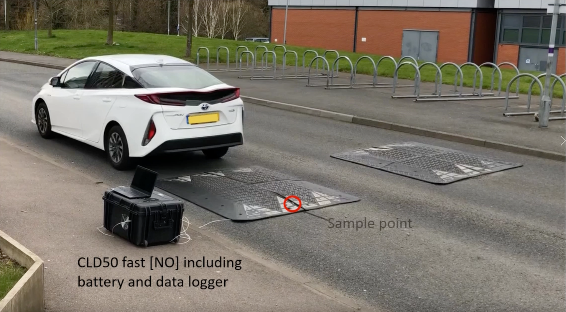 Measuring NOx from a hybrid at speed bumps