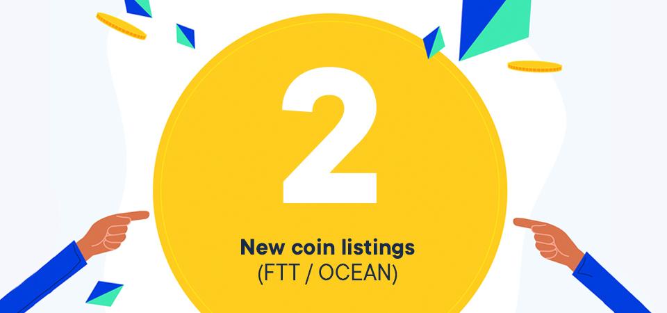 Nieuwe listing: FTT en OCEAN