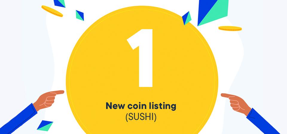 Nieuwe listing: SUSHI