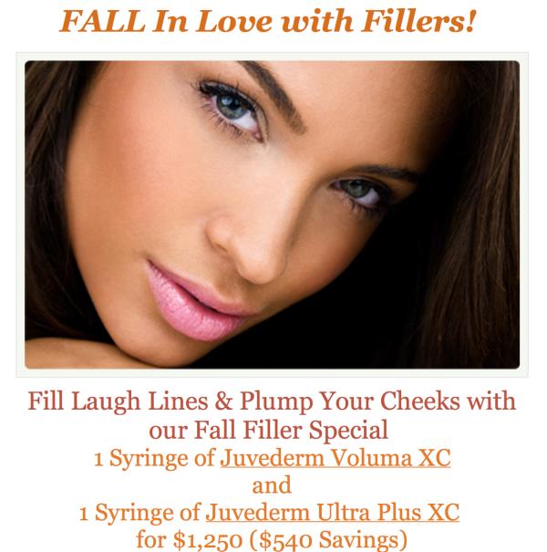 Irvine Fall Dermal Filler Special - Juvederm Ultra Plus and Voluma