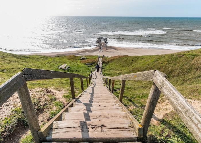 trappe ned til dansk strand