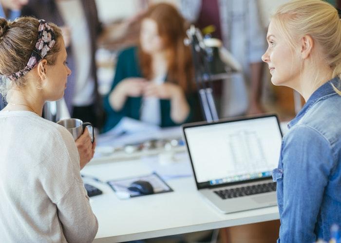 Kvinder arbejder ved computer