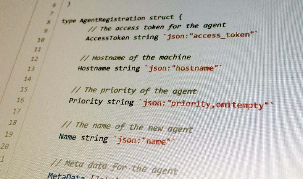 Elastic agent code