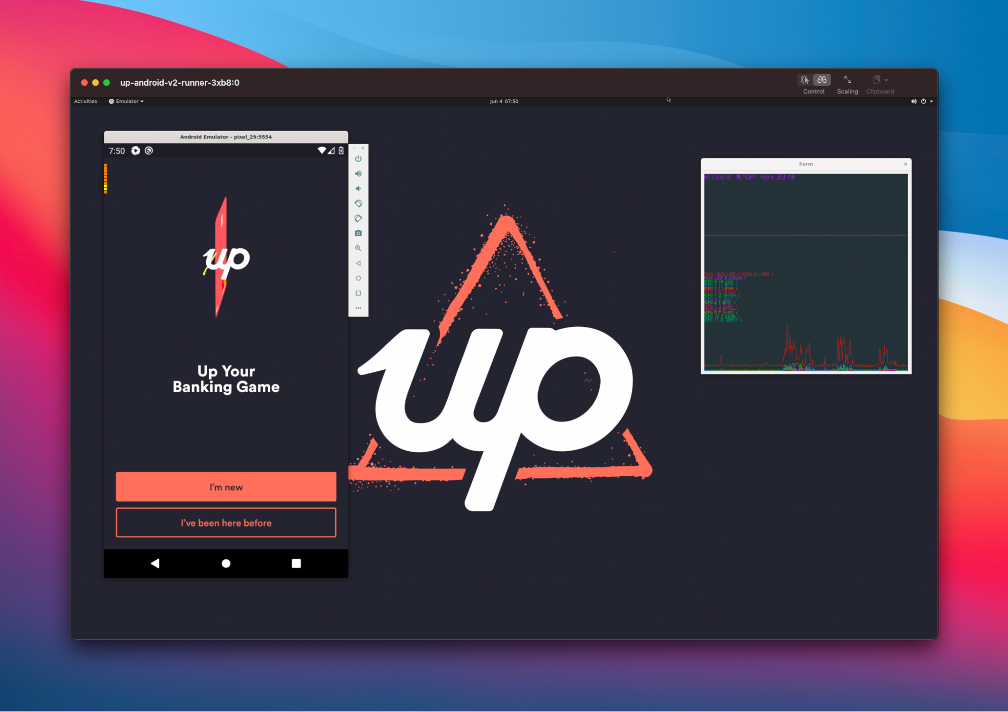 A still image of Up's Android Test Runner