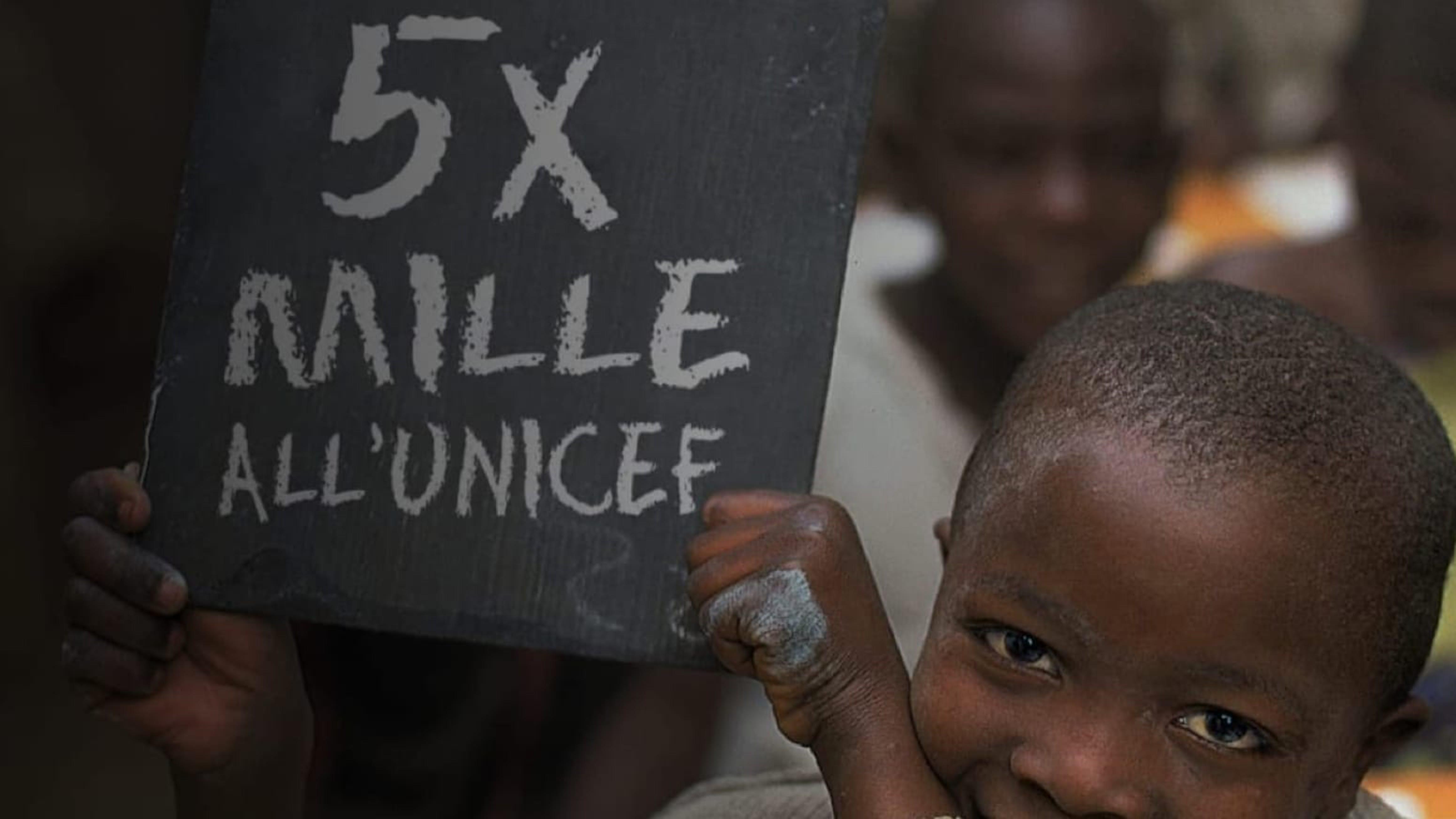 Prima campagna del 5x1000 in Italia per l'UNICEF Italia, al primo posto tra le Onlus