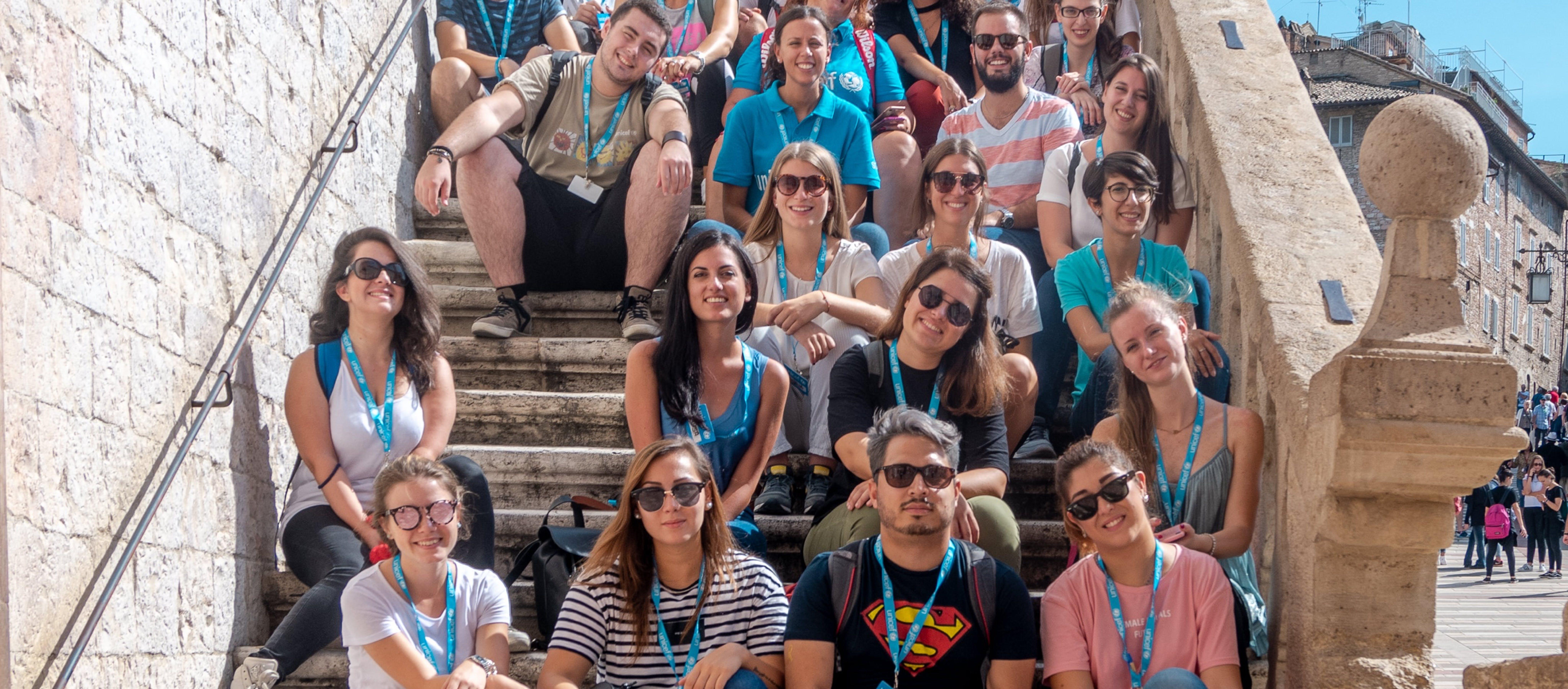 Volontari del programma YOUNICEF ad Assisi