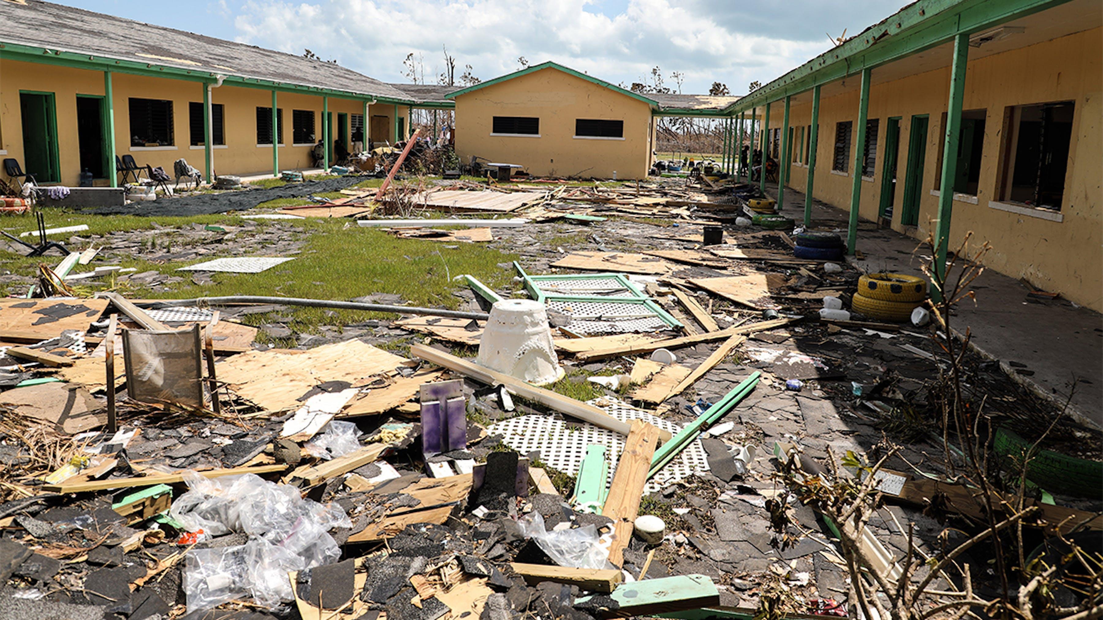 Bahamas, l'isola di Abaco colpita dall'uragano Dorian.