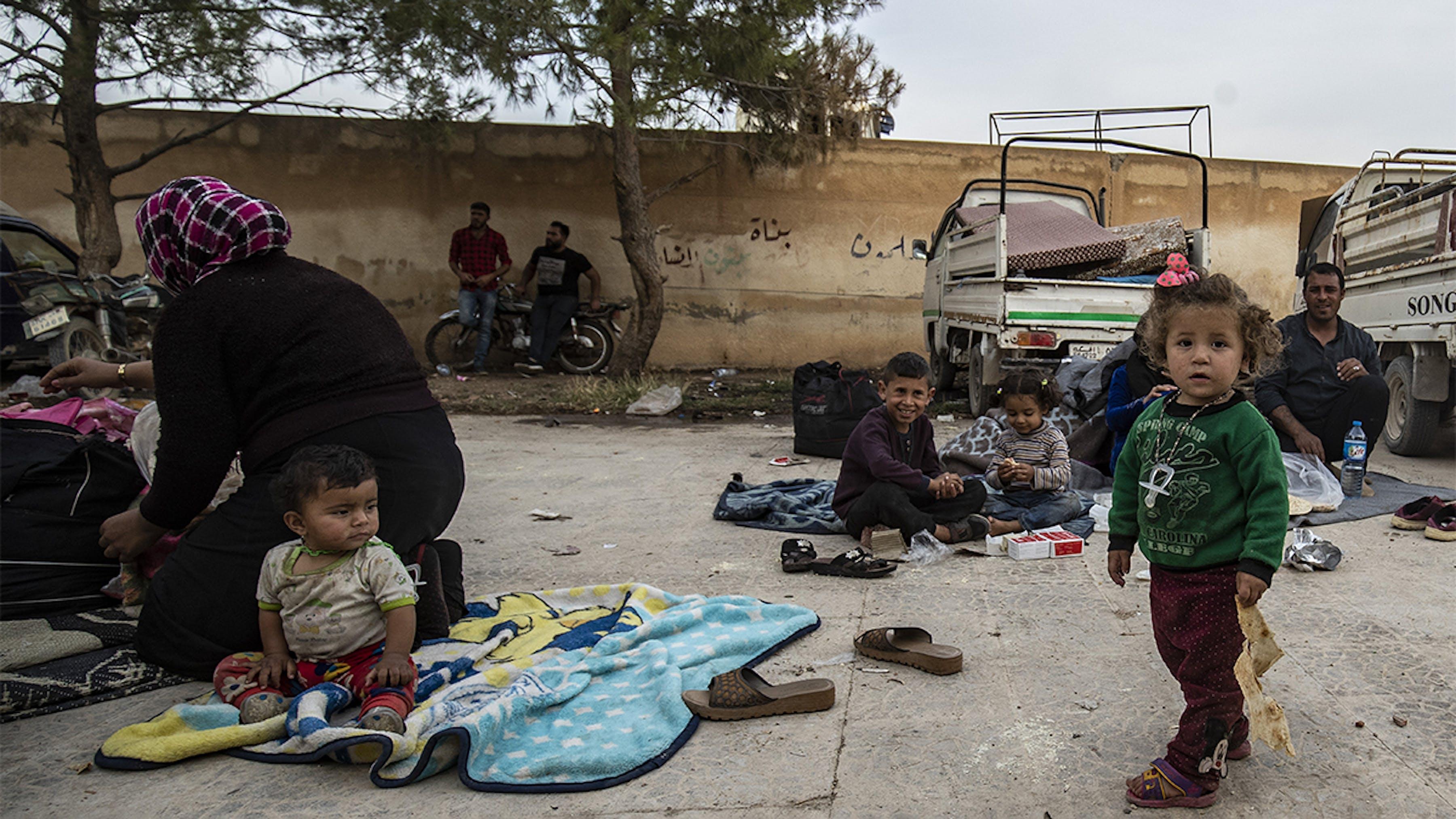 Siria, una famiglia rifugiata fuggita dalla guerra