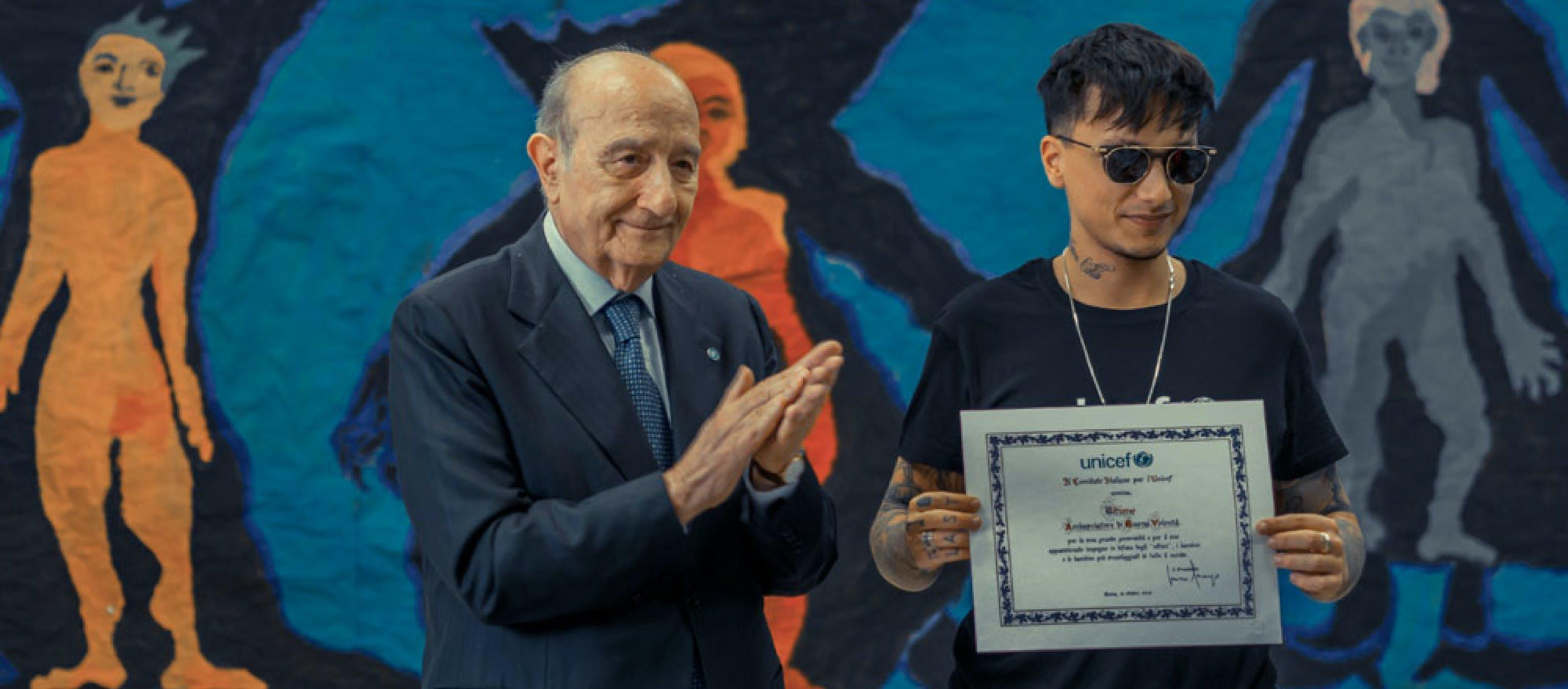 UNICEF Italia nomina Ultimo come ambasciatore