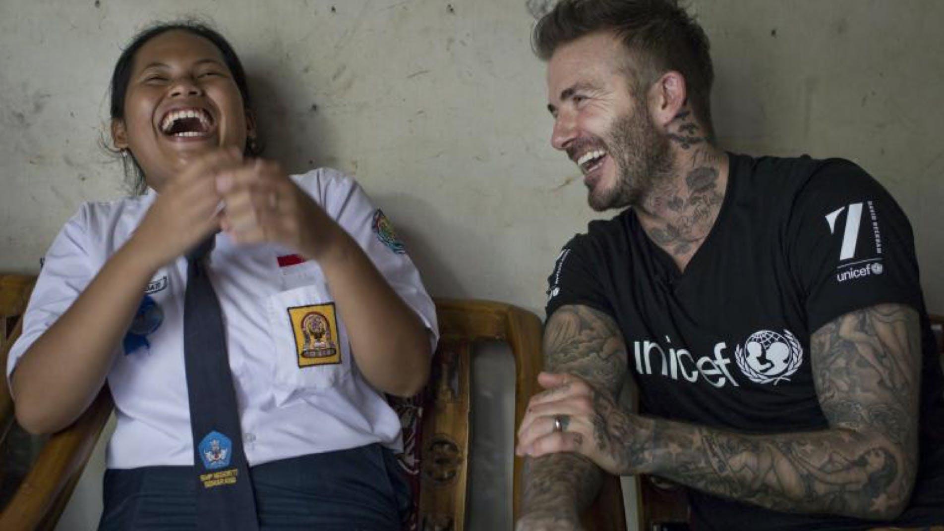David Beckham è uno degli Ambassador di UNICEF internazionale