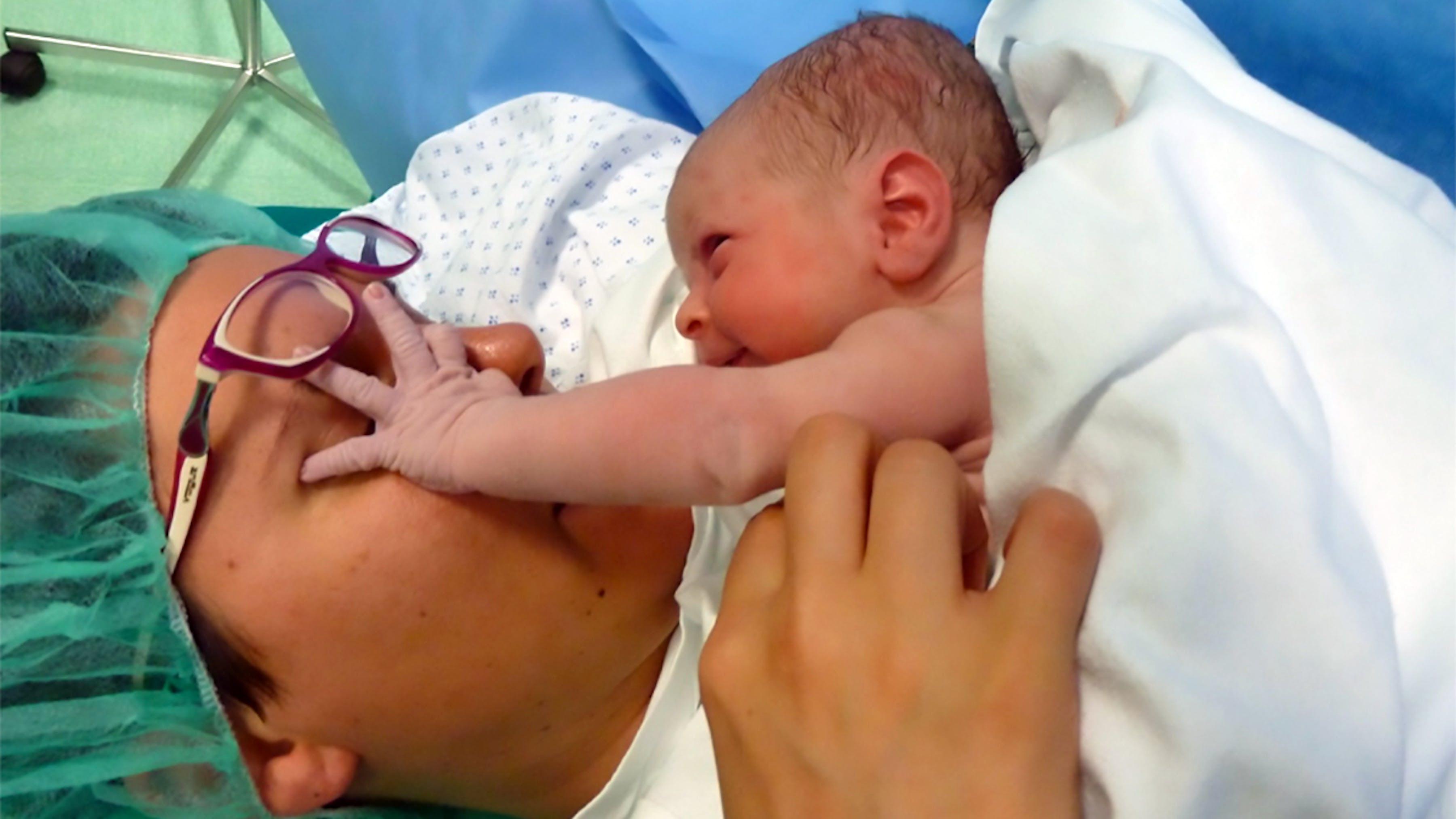 Primo incontro mamma -neonato nell'ospedale S. Maria del Prato
