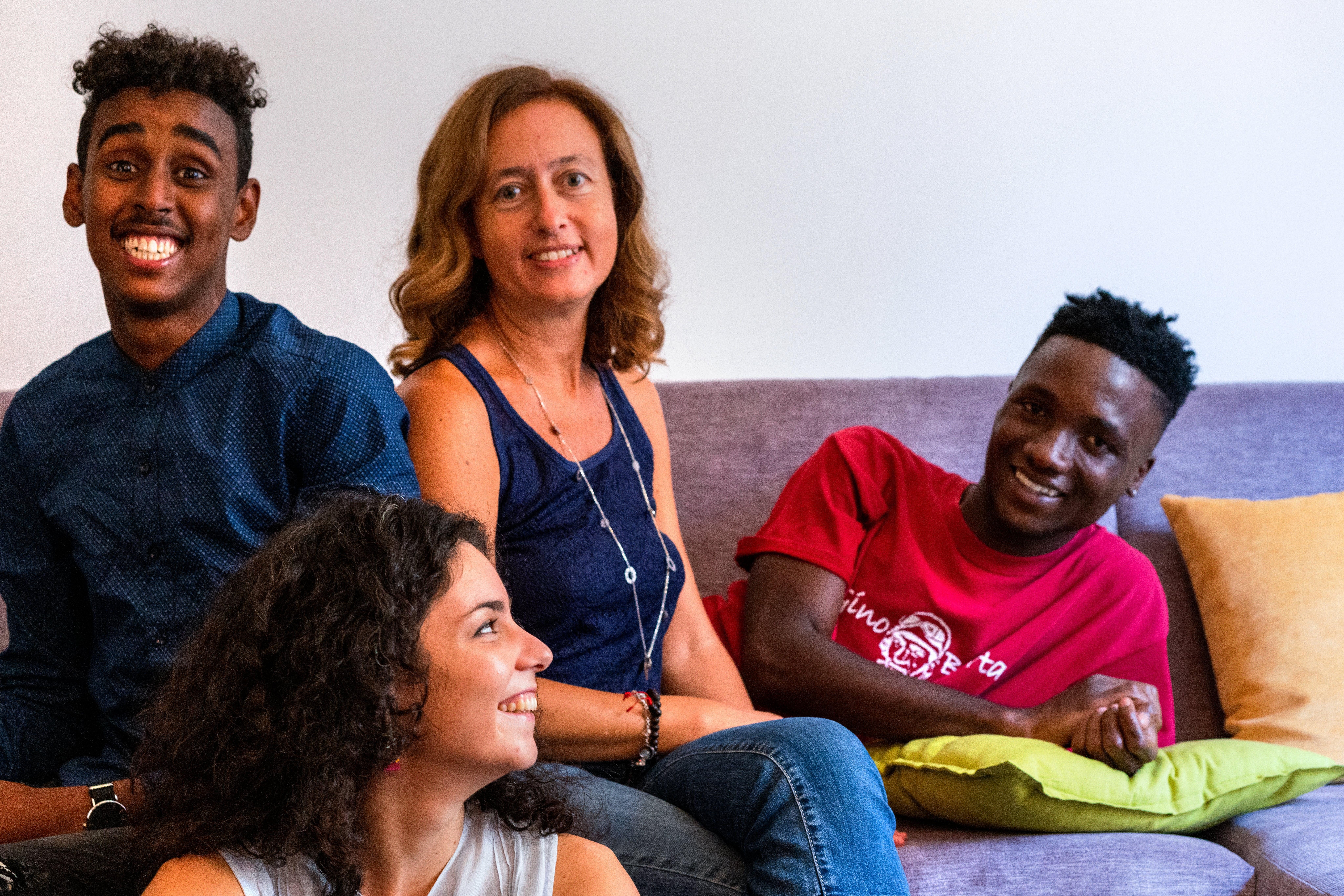 Operatrici di Refugees Welcome Italia incontrano i giovani beneficiari del programma di mentorship