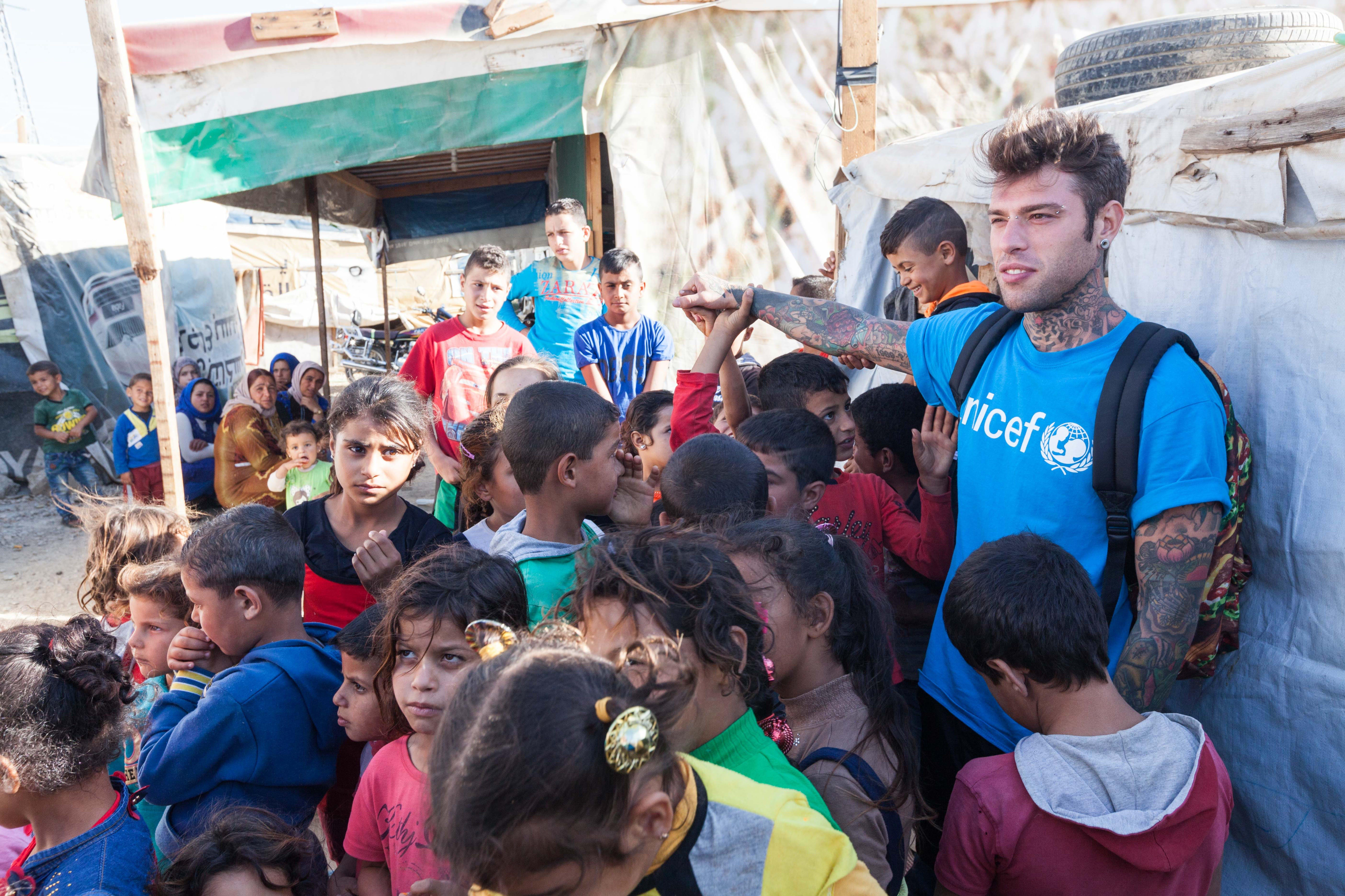 Fedez, in missione in Libano con UNICEF nel 2016