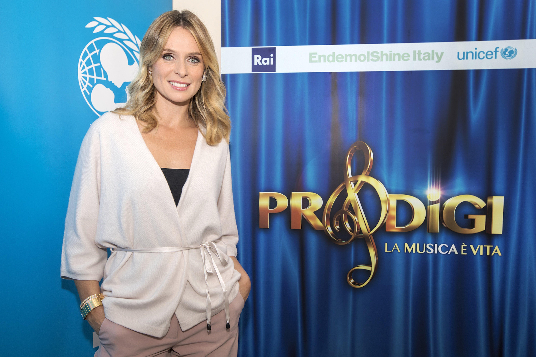 Serena Autieri durante le riprese di Prodigi 2019