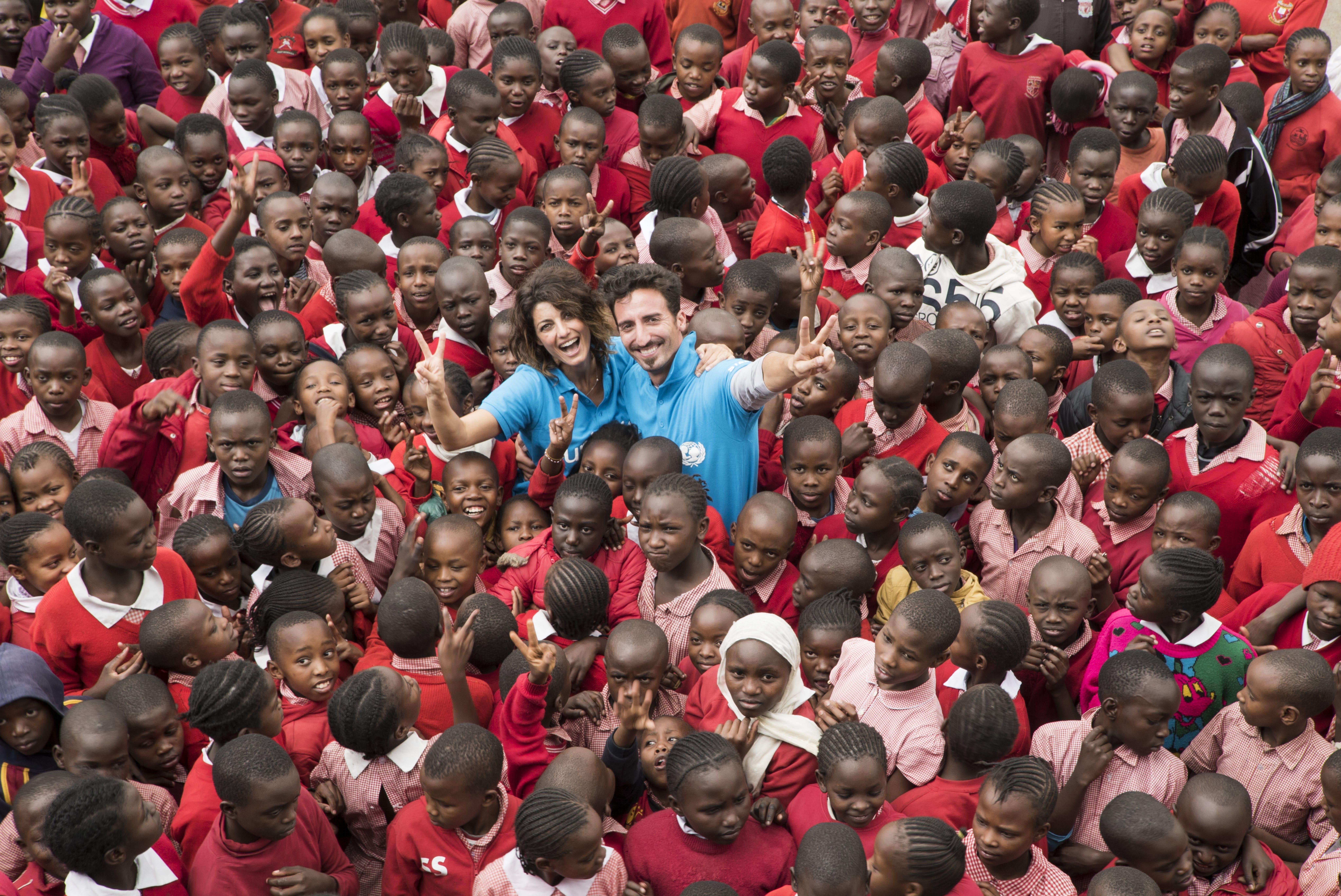 Samanta Togni e Manuel Peron in missione in Kenya con UNICEF