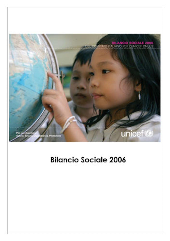 Bilancio Sociale 2006 del Comitato Italiano per l'UNICEF