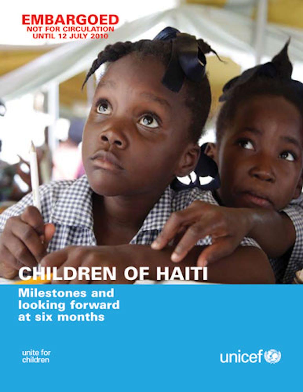 Bambini di Haiti. Rapporto a sei mesi dal terremoto