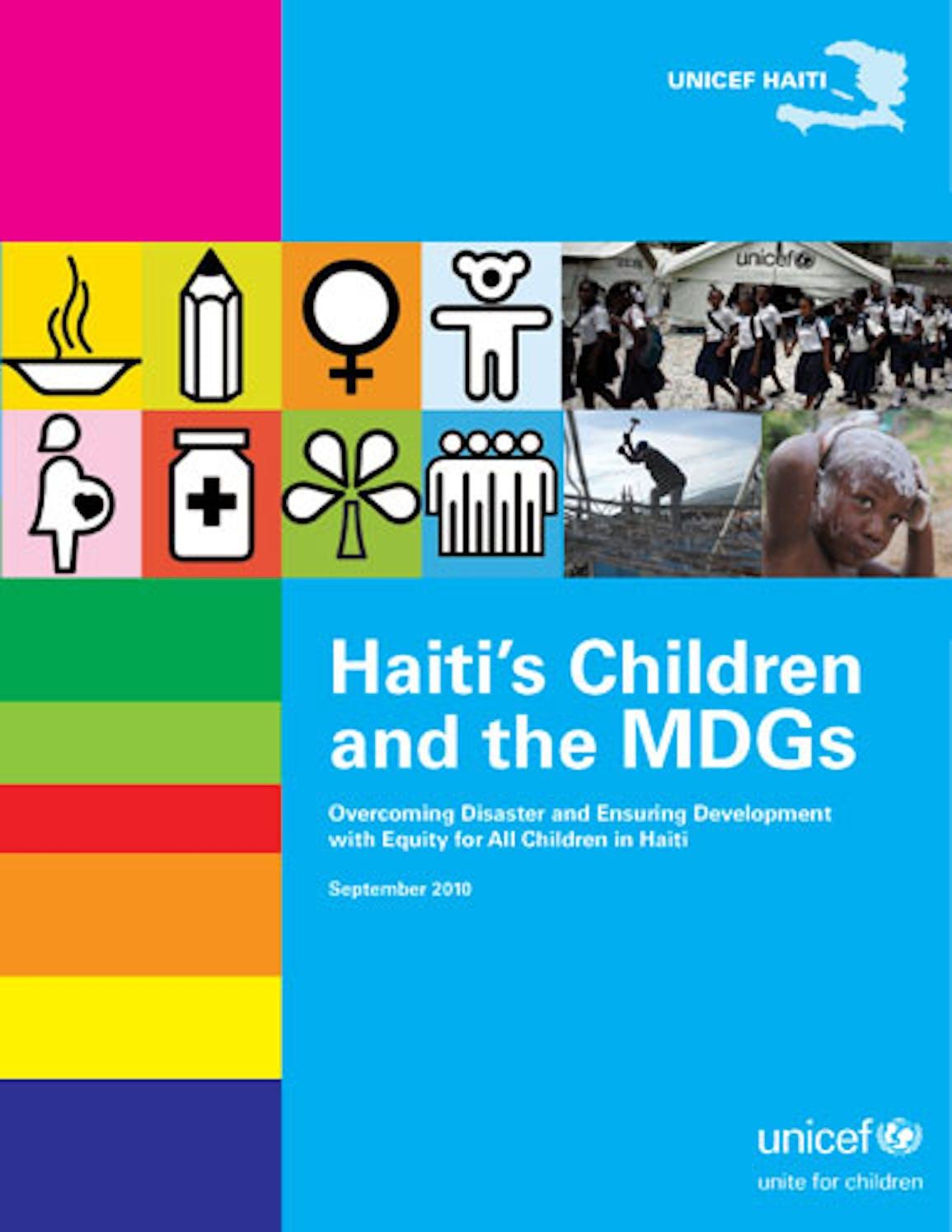 I bambini di Haiti e gli Obiettivi di Sviluppo del Millennio