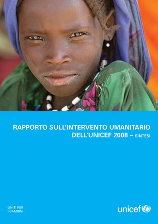Rapporto sull'intervento umanitario 2008 dell'UNICEF