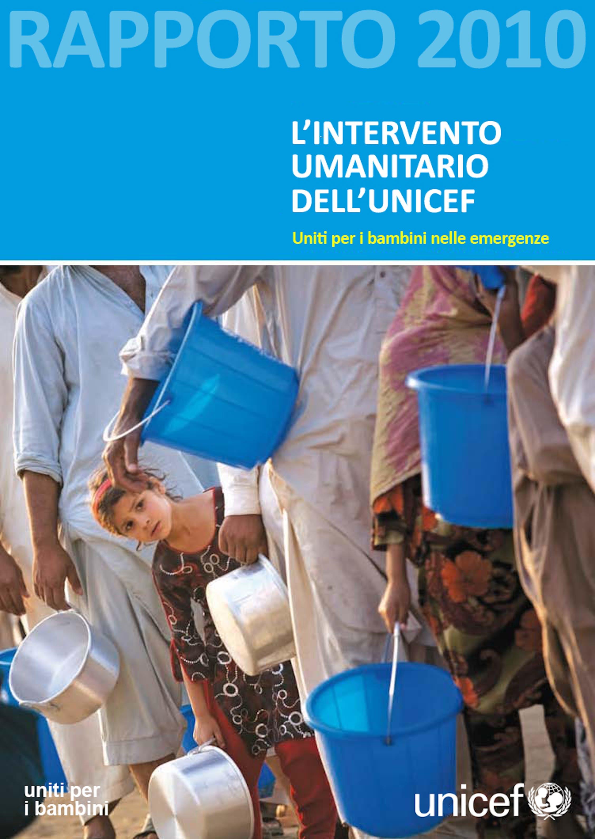 Rapporto sull'intervento umanitario 2010 dell'UNICEF