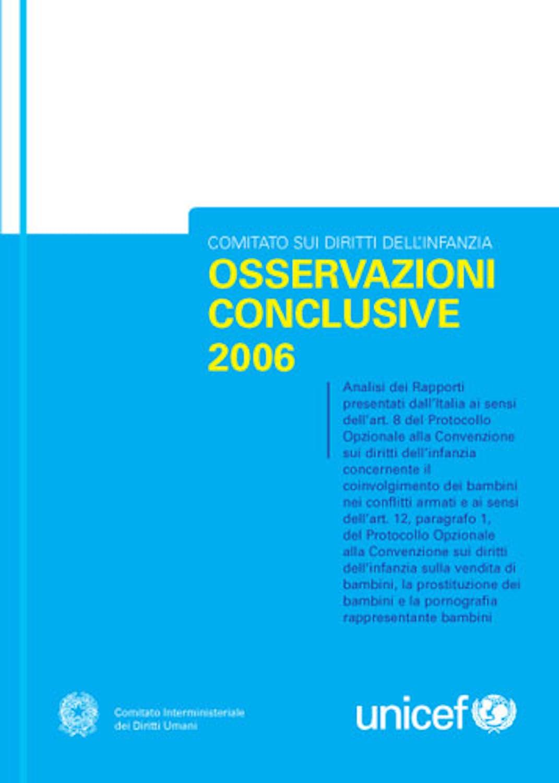 Osservazioni conclusive 2006