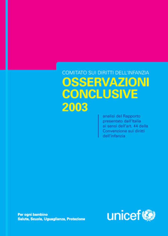 Osservazioni conclusive 2003
