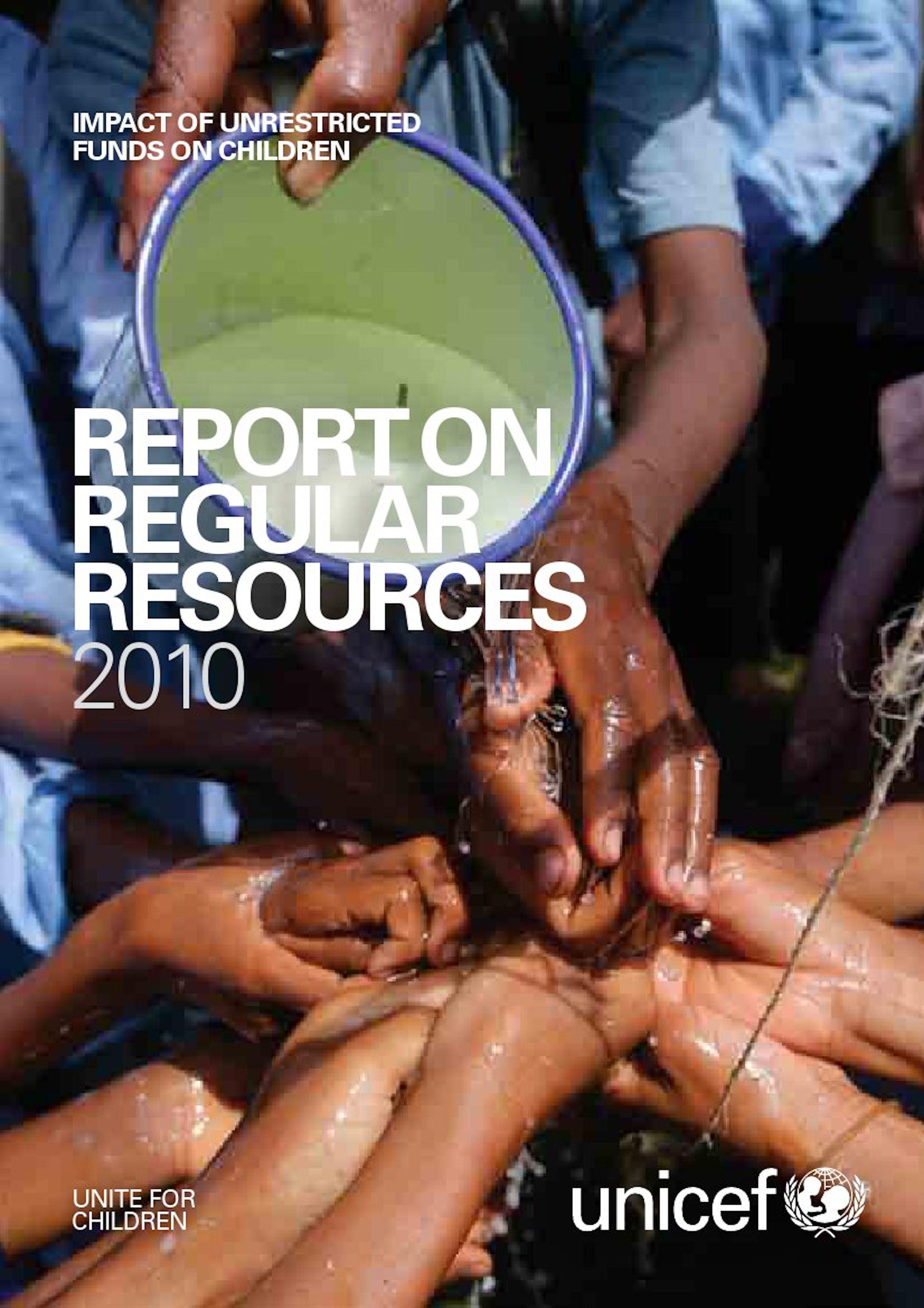Rapporto sulle Risorse regolari 2010