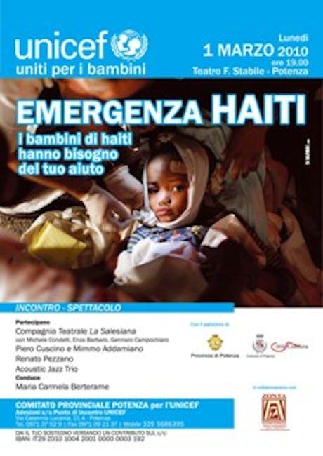 Potenza, a teatro per Haiti