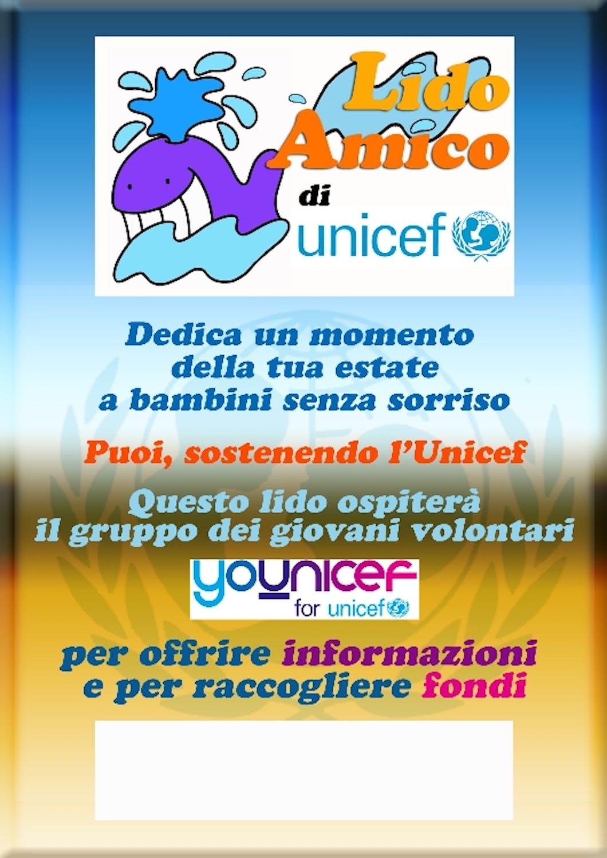Younicef e i lidi amici di UNICEF