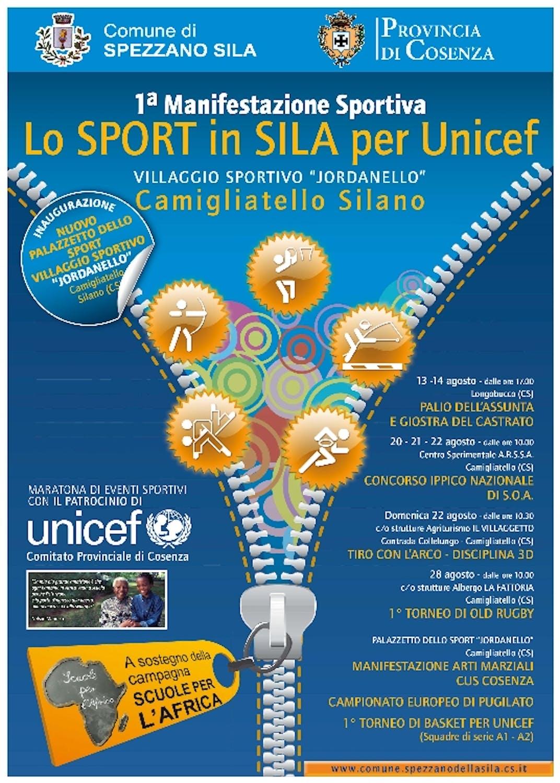 Lo sport in Sila per l'UNICEF
