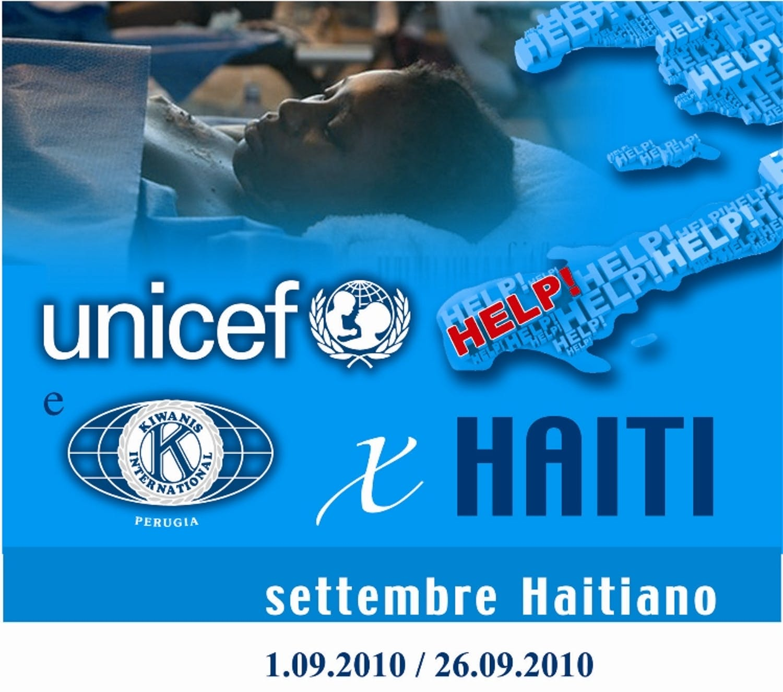A Perugia Kiwanis e UNICEF per Haiti