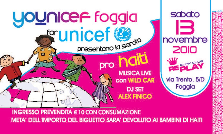 Foggia, serata di musica live pro Haiti con i giovani di Younicef