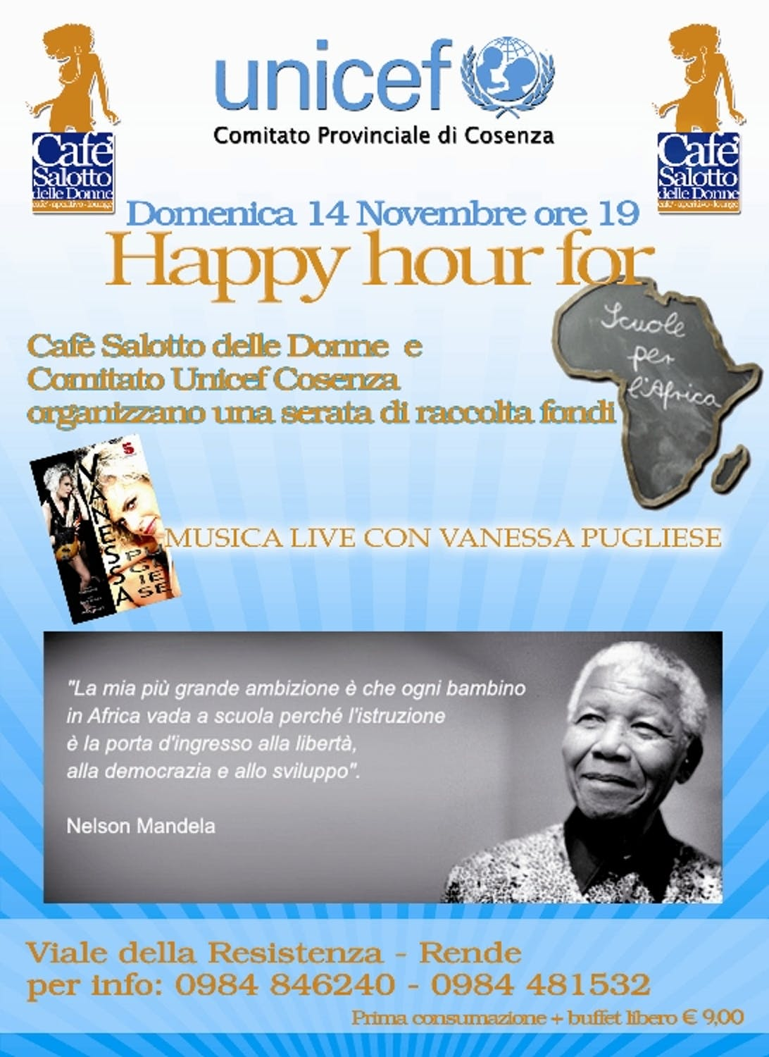 Happy Hour for UNICEF a Rende (CS)
