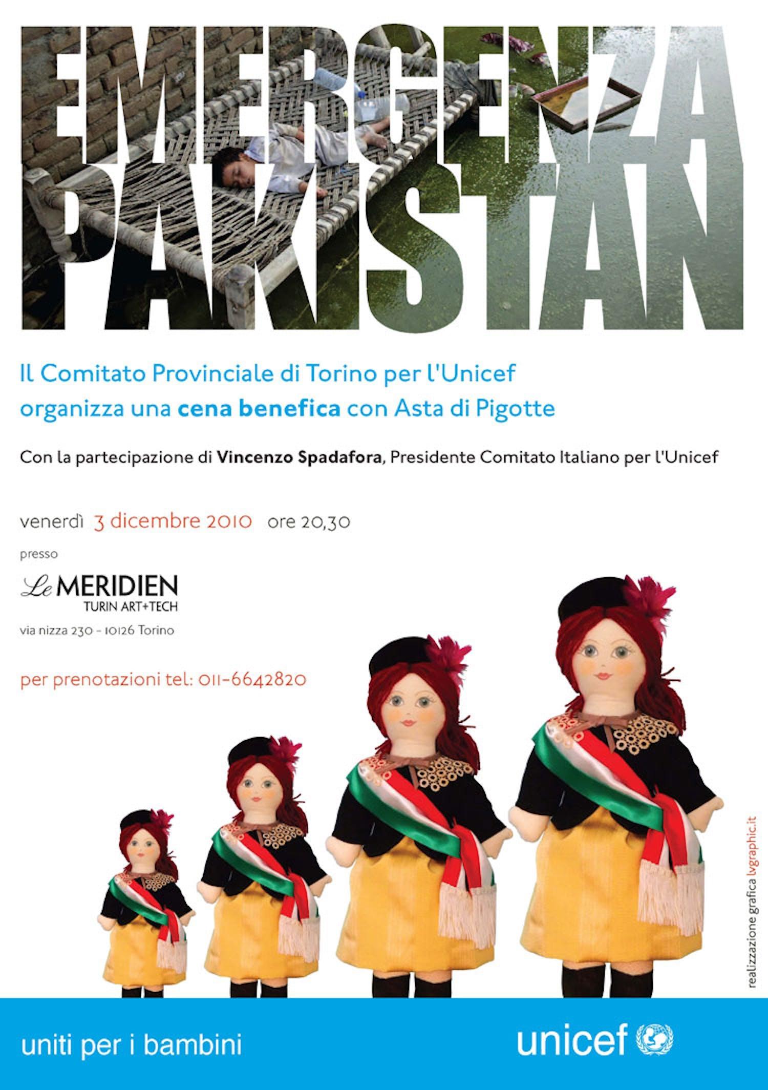 Torino, una cena e un'asta benefiche per il Pakistan