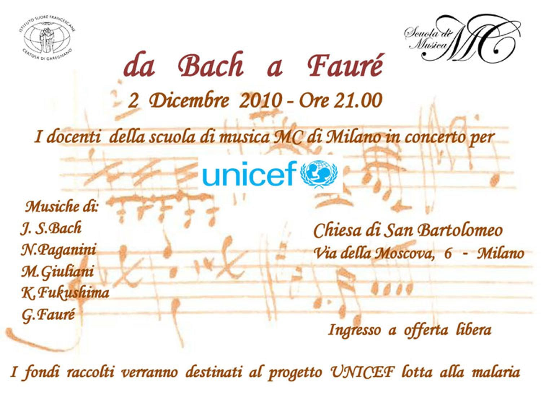 Milano, in concerto per l'UNICEF da Bach a Fauré