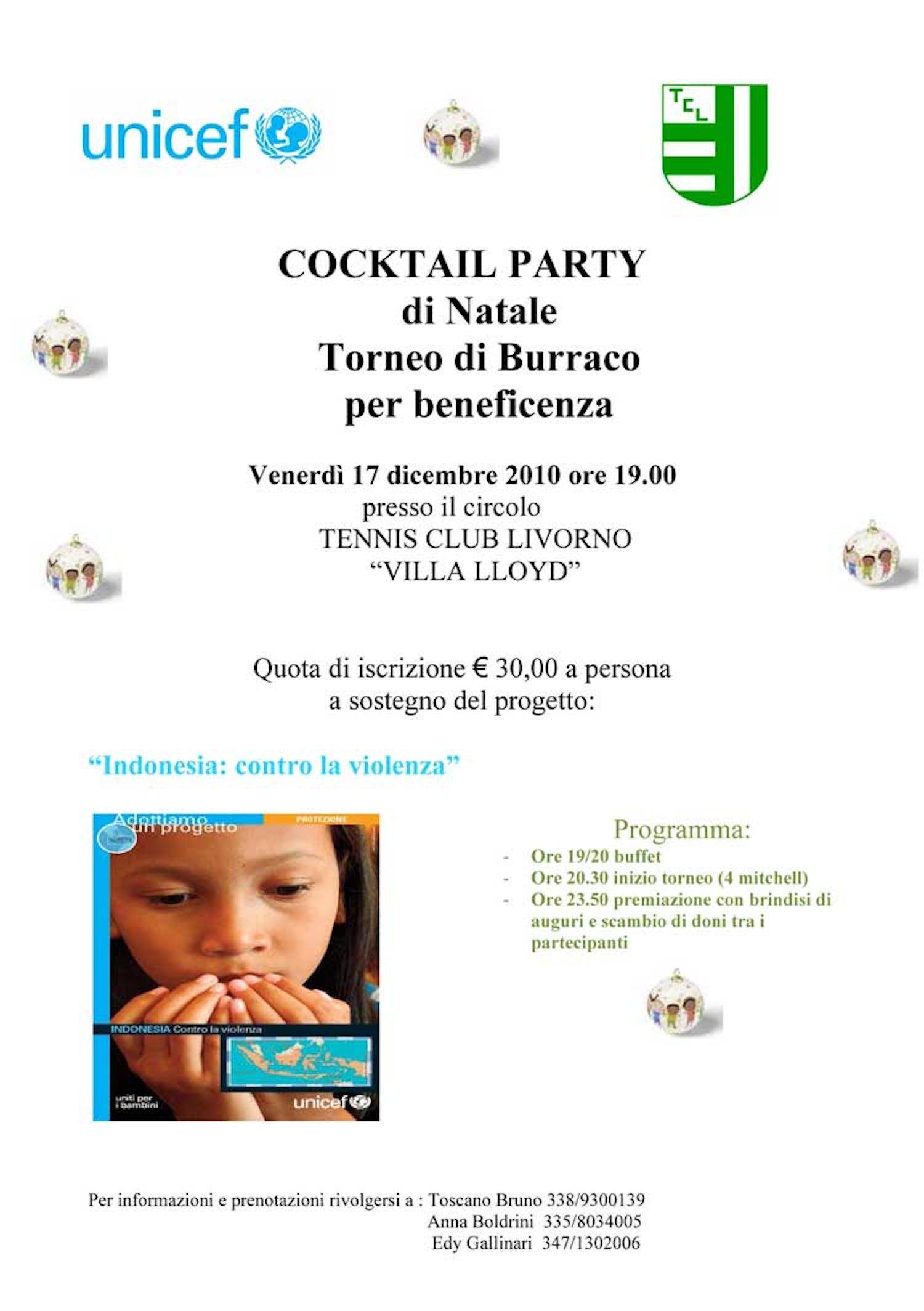 Torneo di burraco per l'UNICEF a Livorno