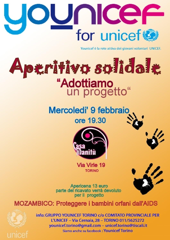 A Torino un aperitivo solidale