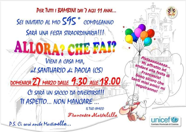 Il Santuario di S. Francesco di Paola (CS) festeggia il suo 595° Compleanno insieme ai bambini
