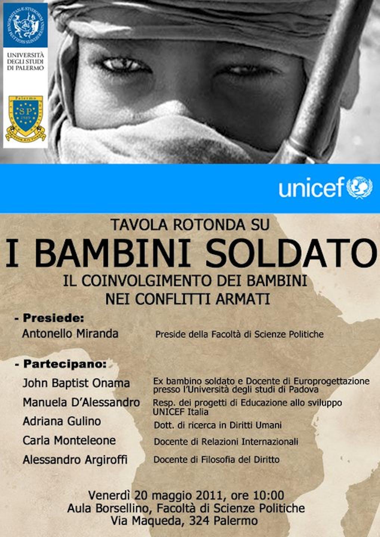 Un seminario sui bambini soldato all'Università di Palermo
