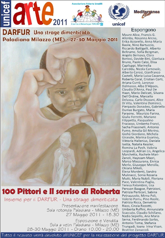 A Milazzo (ME), 100 pittori per l'UNICEF