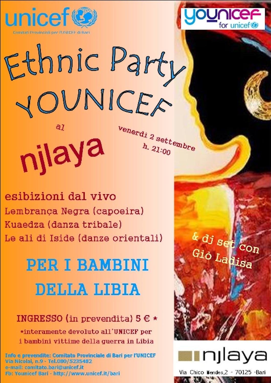 Ethnic Party a Bari per i bambini della Libia