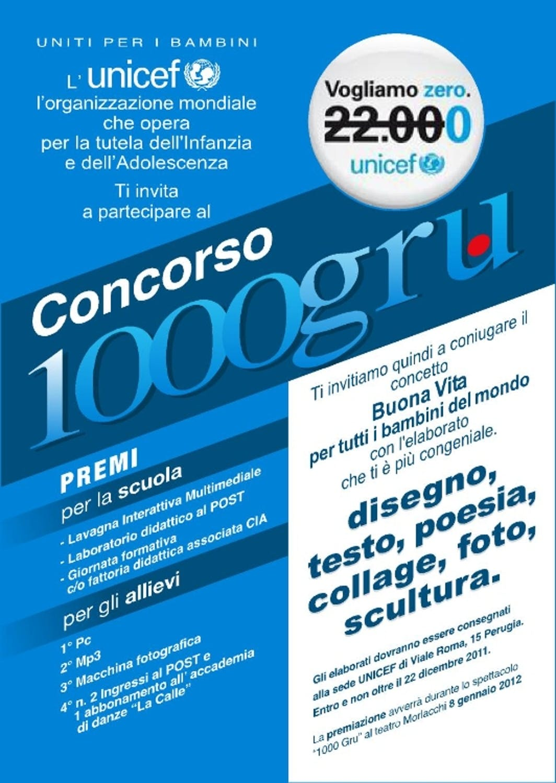 1000 Gru, un concorso a Perugia e Terni