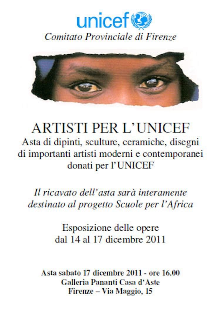 Alla Galleria Pananti di Firenze un'asta di solidarietà