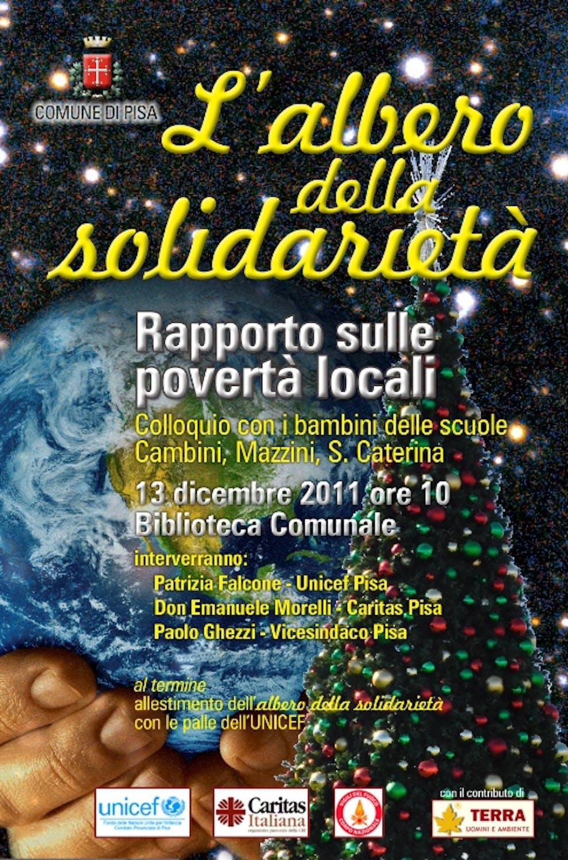 L'Albero della solidarietà allestito dai bambini di Pisa