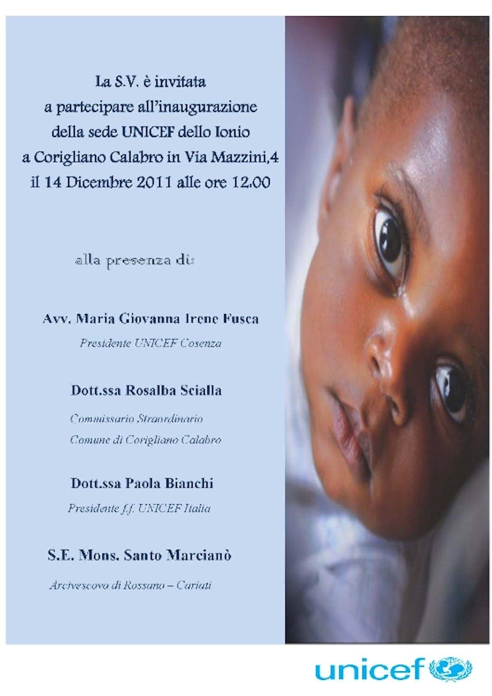 A Corigliano Calabro una nuova sede dell'UNICEF