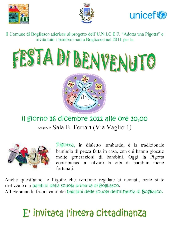 Una festa di benvenuto ai nuovi nati dei Comuni di Bogliasco e Sori