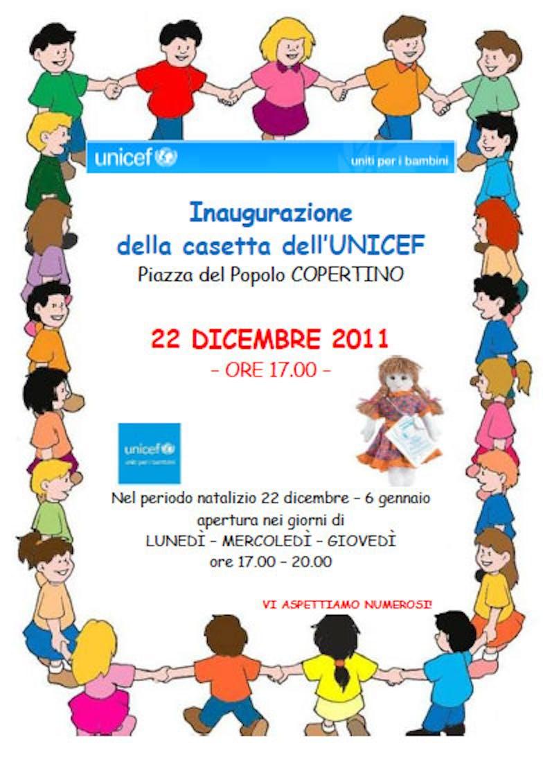 Copertino (LE) inaugura la casetta dell'UNICEF